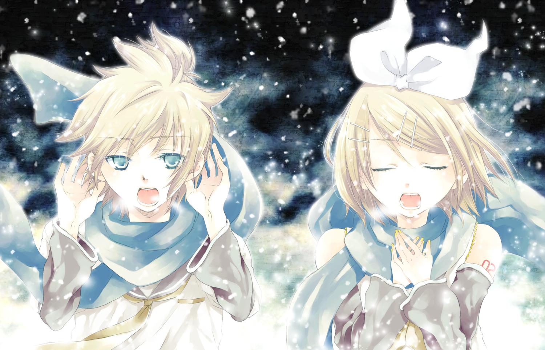 Kagamine len kagamine rin male snow vocaloid konachan - Rin wallpaper ...