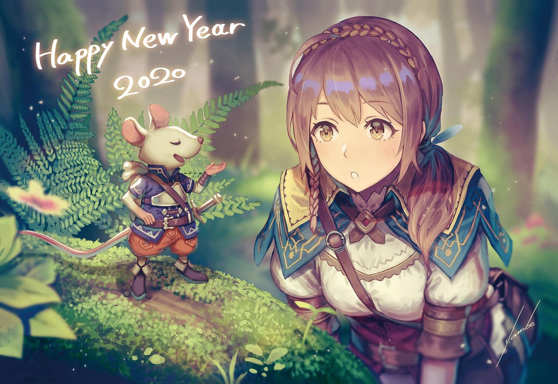 anbe_yoshirou animal mouse original signed
