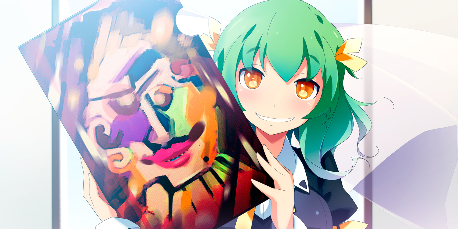 akinoko game_cg green_hair kaminoyu koushina_ayano seifuku