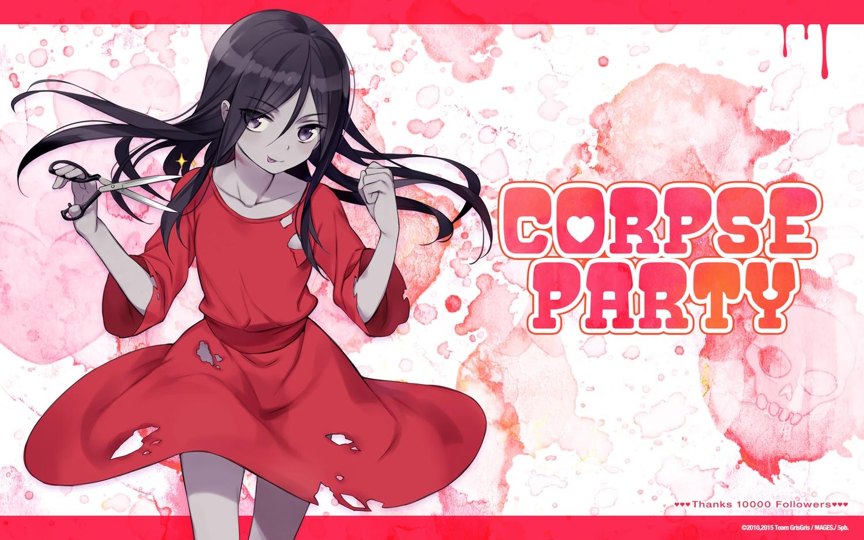 black_eyes black_hair corpse_party dress long_hair shinozaki_sachiko tagme_(artist) torn_clothes