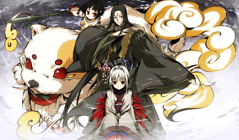 g_yuusuke game_cg kajiri_kamui_kagura kyougetsu_sakuya madara_yakou niko teirei
