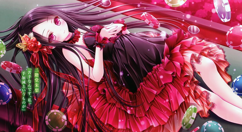 dress loli lolita_fashion original red_eyes ribbons scan see_through third-party_edit tinkle