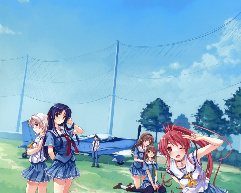 abhar cropped deep_blue_sky_&_pure_white_wings hanami_mariya koga_sayoko misaki_kurehito miyamae_tomoka nakano_hinata pantyhose scan school_uniform tsuyazaki_kokage