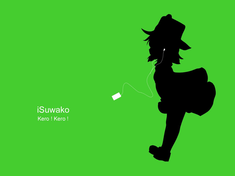 ipod moriya_suwako parody silhouette touhou
