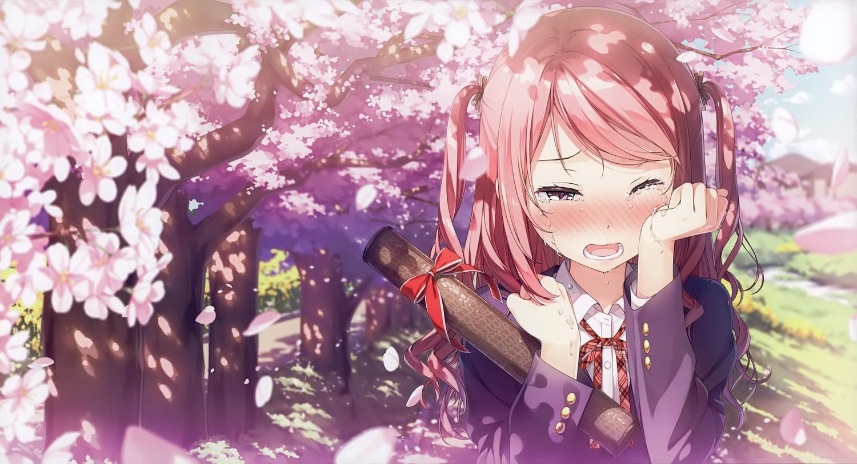 Blush bow cherry blossoms crying kantoku kurumi kantoku long hair blush bow cherryblossoms crying kantoku kurumikantoku longhair original petals pinkeyes pinkhair scan seifuku voltagebd Gallery