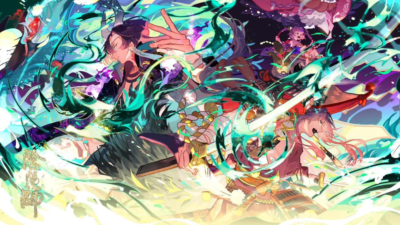 ichimoku_ren_(omnyouji) kaoru_(onmyouji) katana loli male onmyouji rindo_karasuba sword weapon yamakaze_(onmyouji)
