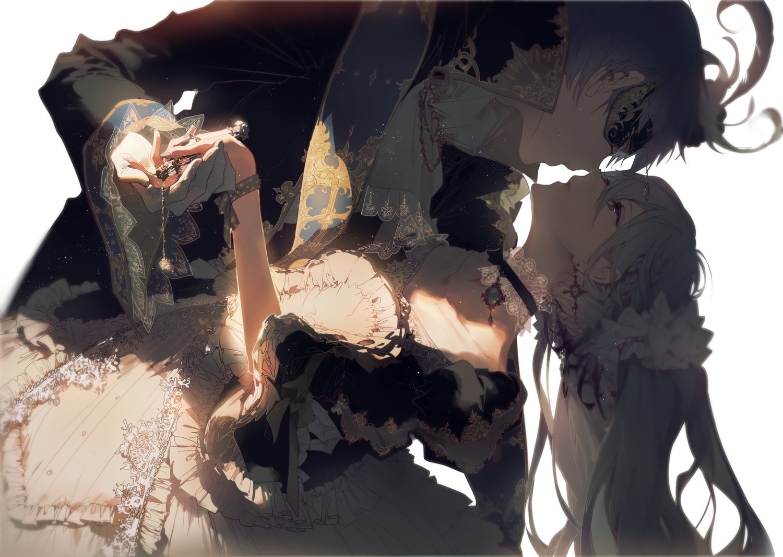cantarella_(vocaloid) choker dress green_hair hatsune_miku kaito long_hair male rella twintails vocaloid