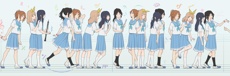 group hibike!_euphonium kasaki_nozomi koubakotone nakagawa_natsuki school_uniform yoroizuka_mizore yoshikawa_yuuko
