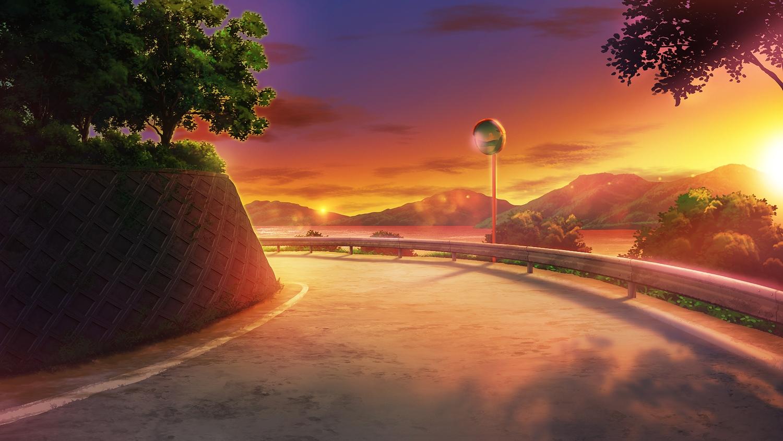clouds mirror monorisu nobody original scenic sky summer sunset