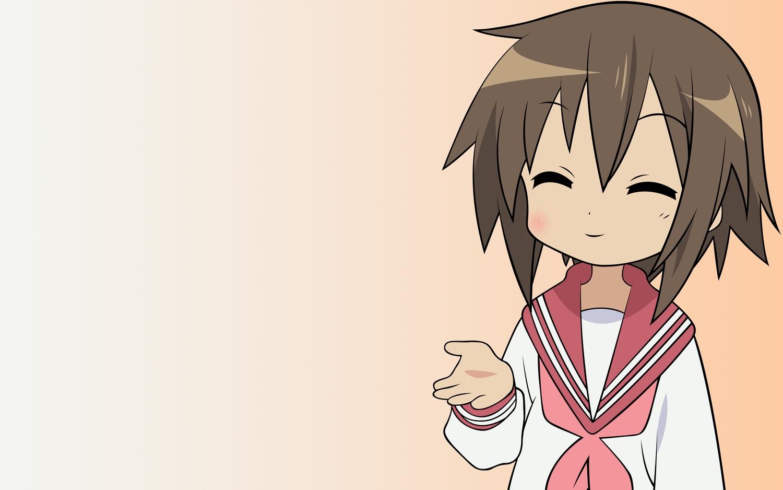 brown_hair gradient kusakabe_misao lucky_star school_uniform short_hair vector