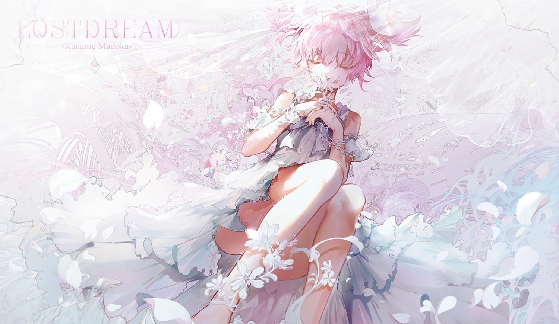 bai_qi-qsr dress kaname_madoka mahou_shoujo_madoka_magica pink_hair polychromatic