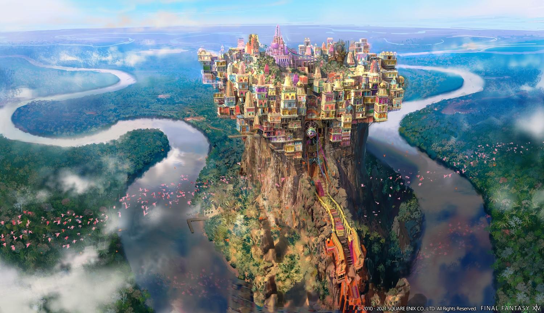 animal bird building city final_fantasy final_fantasy_xiv landscape nobody scenic square_enix watermark
