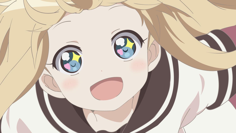 aqua_eyes blonde_hair blue_eyes close school_uniform toshinou_kyouko vector yuru_yuri