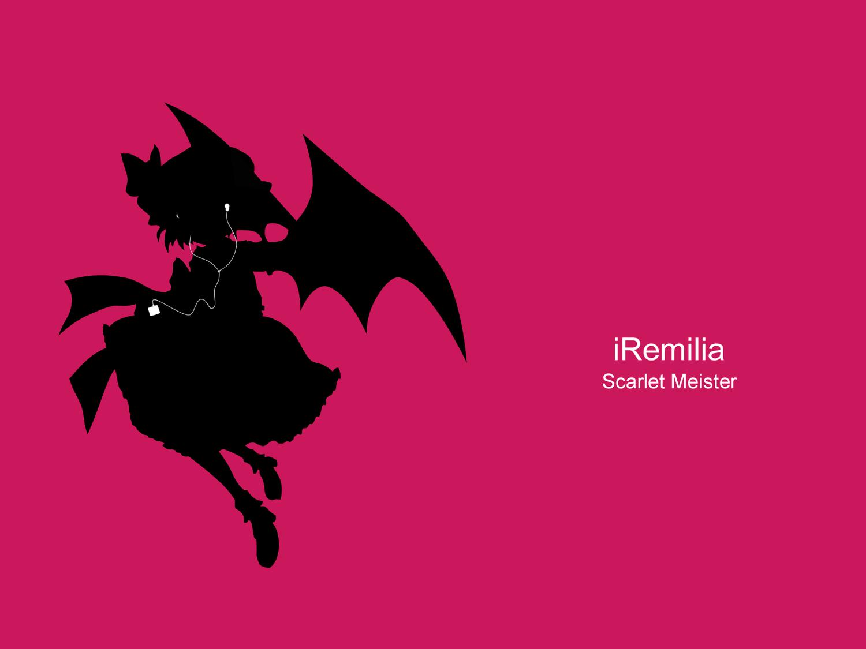 ipod remilia_scarlet silhouette touhou vampire