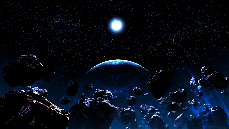 3d dark moon nobody original planet scenic sky space stars y-k