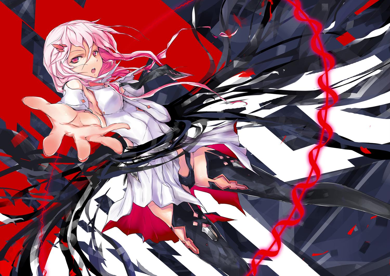 guilty_crown pink_hair red_eyes thighhighs wei_(hoshieve) yuzuriha_inori