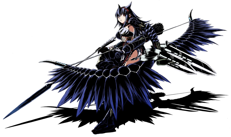 armor bow_(weapon) funamushi_(funa) monster_hunter nargacuga_(armor) weapon
