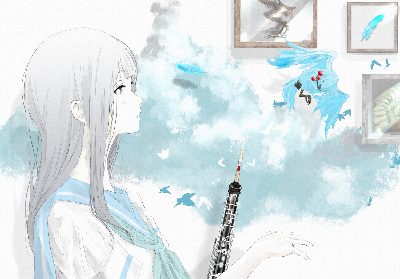 animal bird hibike!_euphonium instrument liz_to_aoi_tori nine_(plantroom9) yoroizuka_mizore