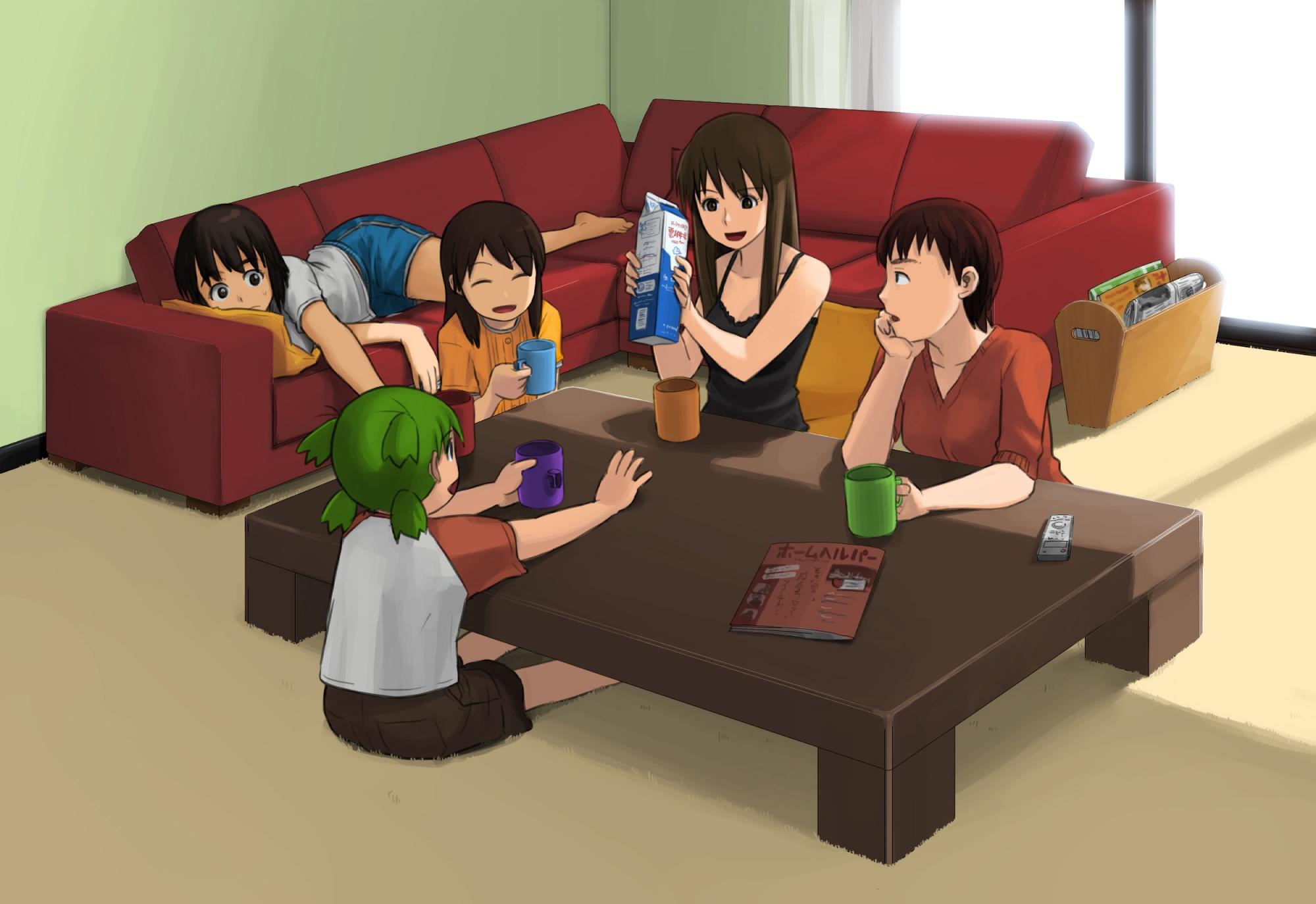 ayase_asagi ayase_ena ayase_fuuka group koiwai_yotsuba tagme_(character) yotsubato!