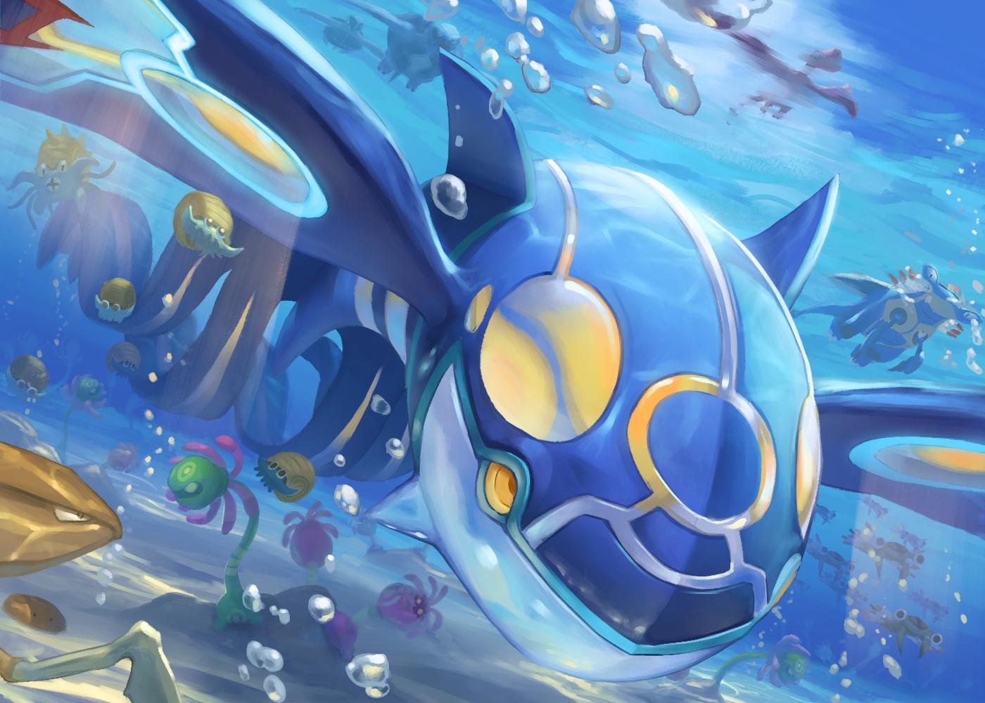 anorith armaldo bubbles cradily kabutops kyogre lileep nobody omanyte pokemon spareribs underwater water