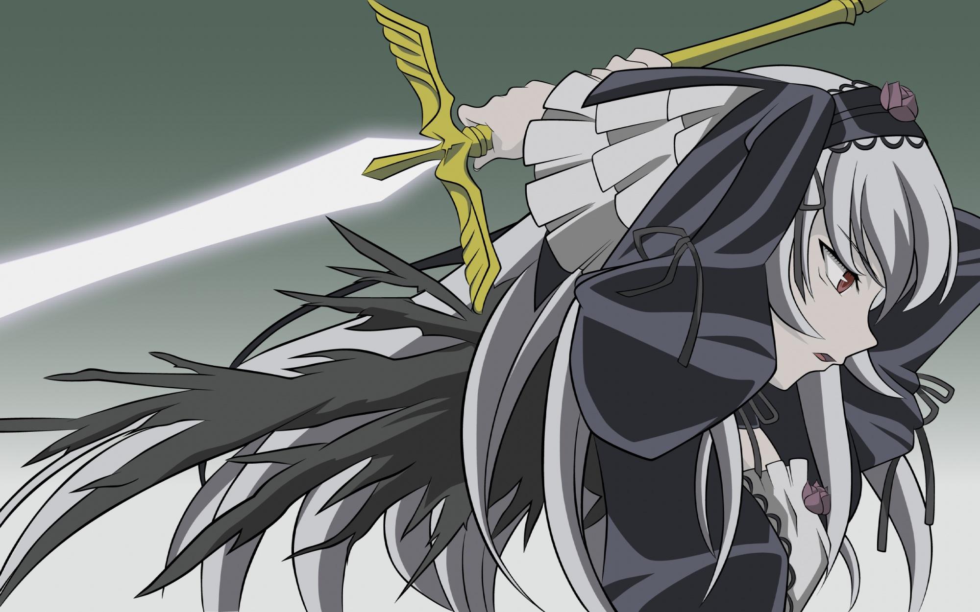 rozen_maiden suigintou sword weapon