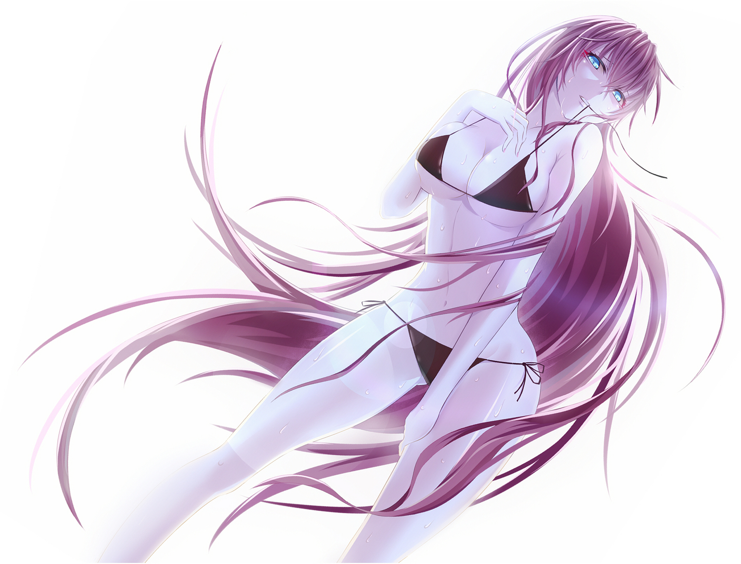 bikini long_hair megurine_luka paparins swimsuit vocaloid white