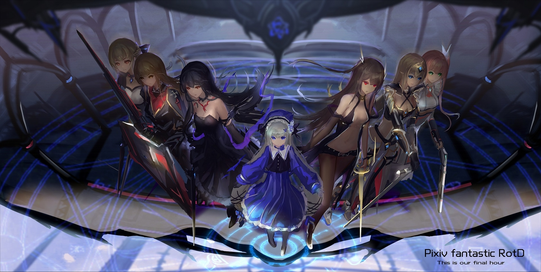 armor group hc jpeg_artifacts loli original pixiv_fantasia sword weapon