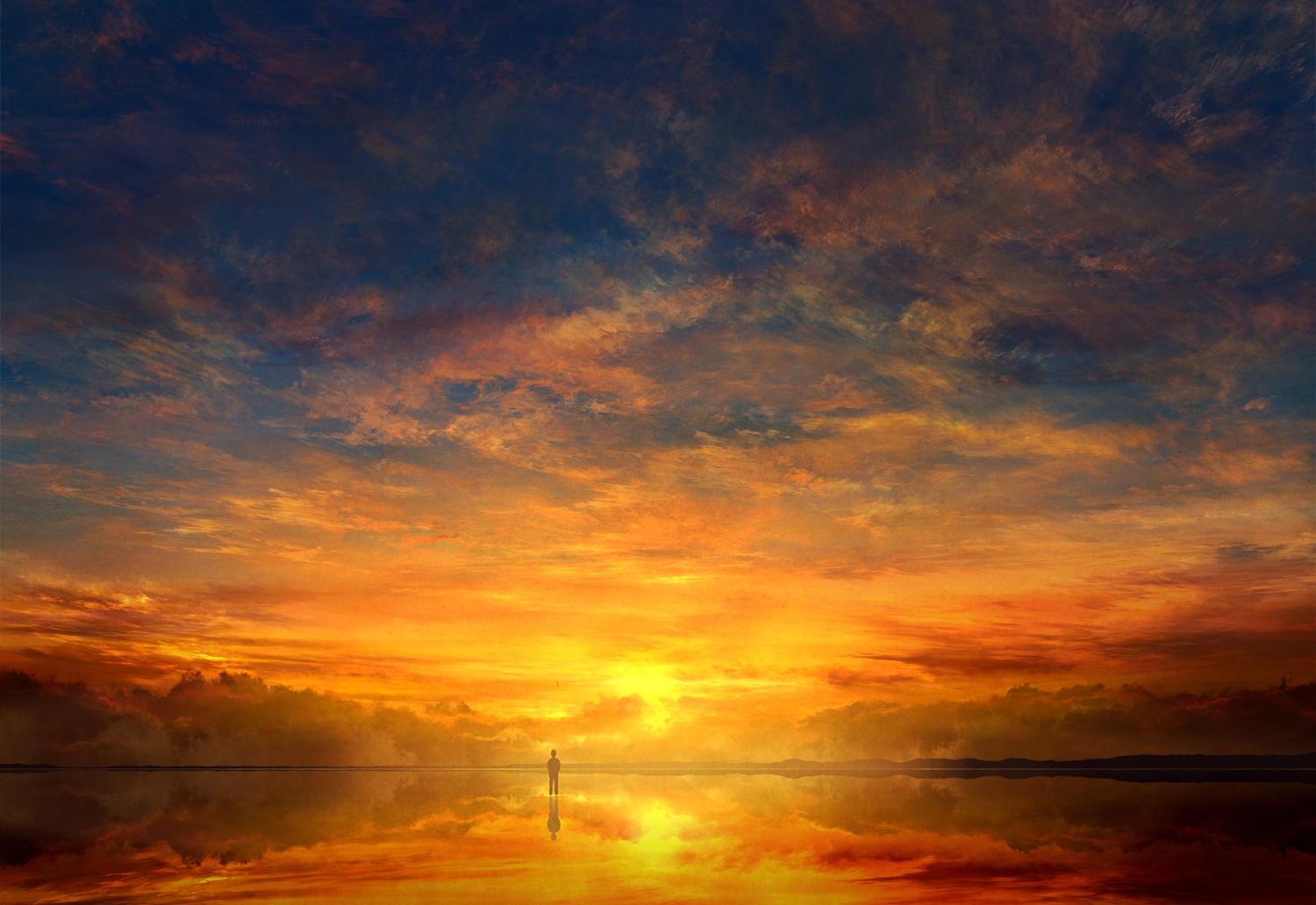 clouds mks original reflection scenic silhouette sky sunset