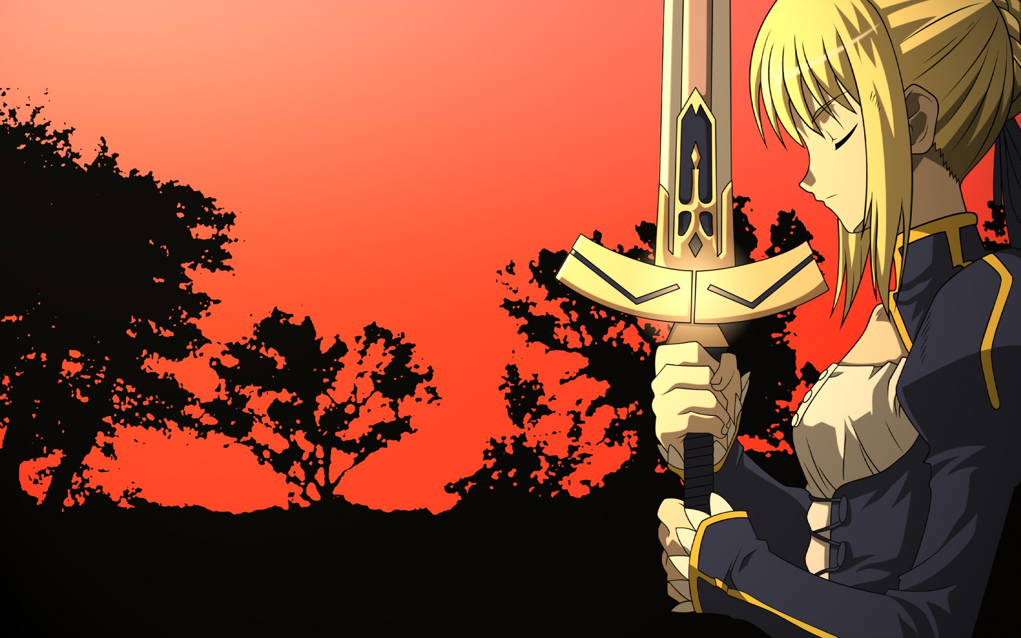 fate/stay_night saber sword weapon