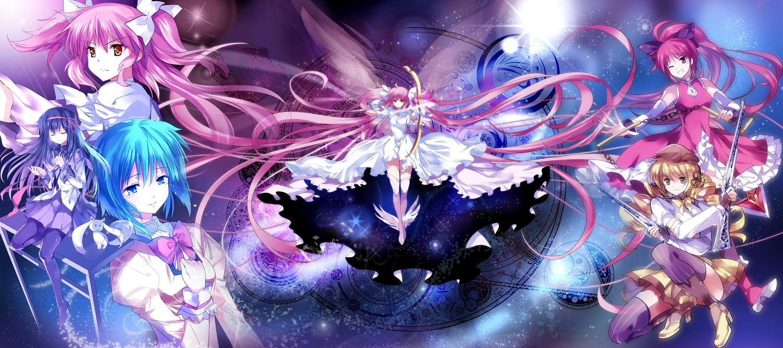 akemi_homura kaname_madoka kyuubee mahou_shoujo_madoka_magica miki_sayaka pico sakura_kyouko tomoe_mami ultimate_madoka