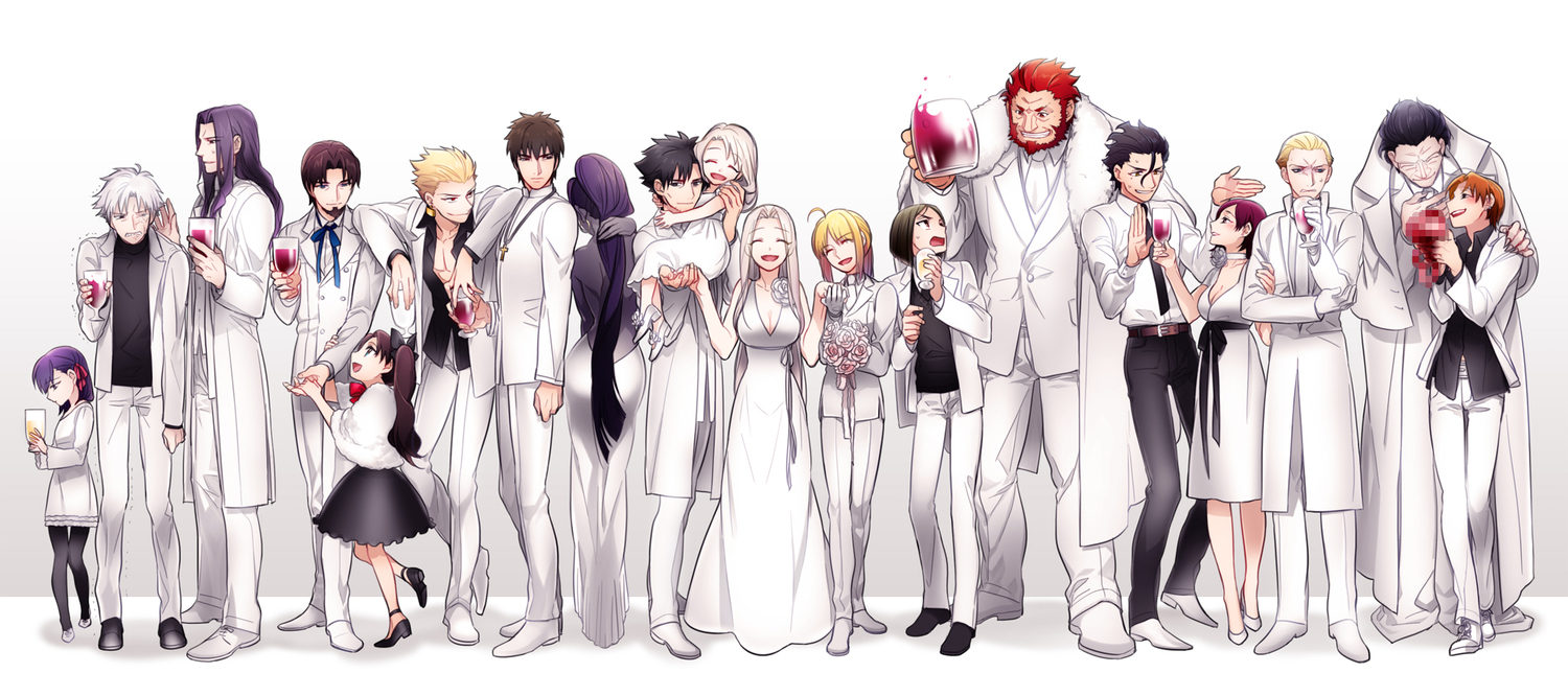 alexander_(fate) artoria_pendragon_(all) black_eyes black_hair blonde_hair blue_eyes bow brown_eyes brown_hair censored danbi2021 diarmuid_ua_duibhne_(fate) dress emiya_kiritsugu fate_(series) fate/stay_night fate/zero flowers gilgamesh gilles_de_rais_(fate) gloves gray_eyes illyasviel_von_einzbern irisviel_von_einzbern kayneth_archibald_el-melloi kotomine_kirei lancelot_(fate) long_hair matou_kariya matou_sakura pantyhose purple_eyes purple_hair red_eyes red_hair ribbons rose saber short_hair skirt sola-ui_nuada-re_sophia-ri tohsaka_rin tohsaka_tokiomi true_assassin twintails uryuu_ryuunosuke white_hair