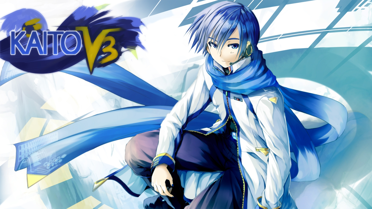 all_male blue_eyes blue_hair daidou_(demitasse) kaito male scarf vocaloid