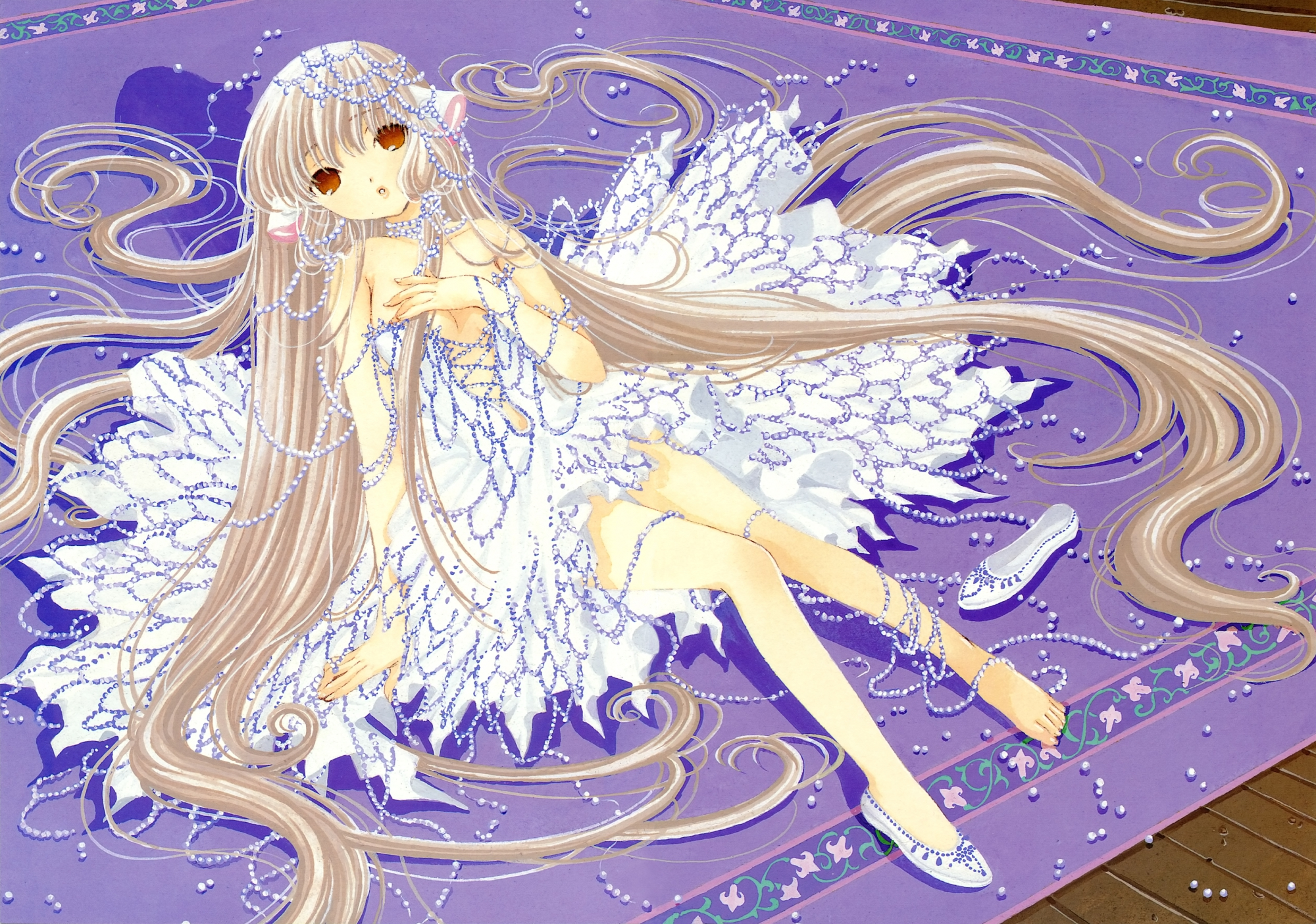 chii chobits clamp purple scan