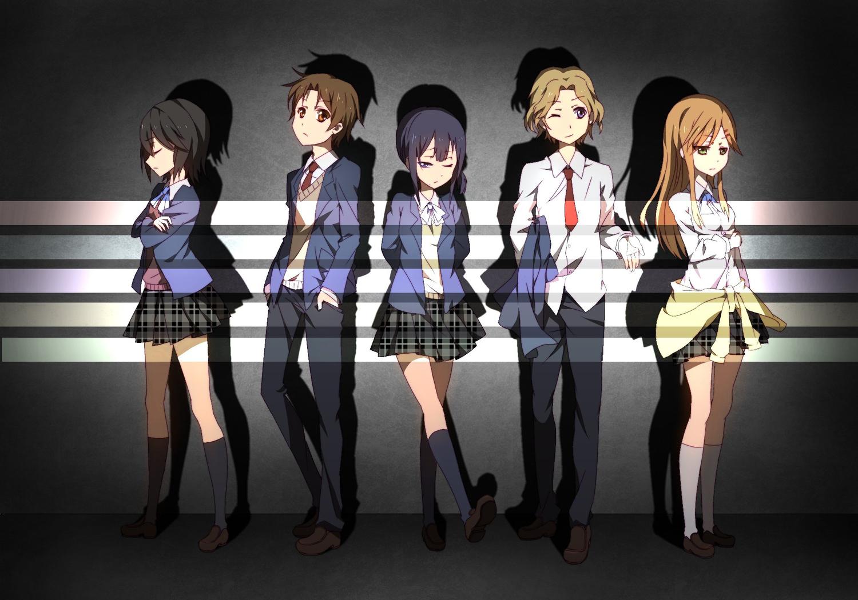 aoki_yoshifumi group inaba_himeko jpeg_artifacts kiriyama_yui kokoro_connect nagase_iori school_uniform yaegashi_taichi