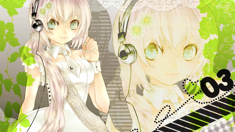 ebisu_kana flowers headphones megurine_luka tie vocaloid
