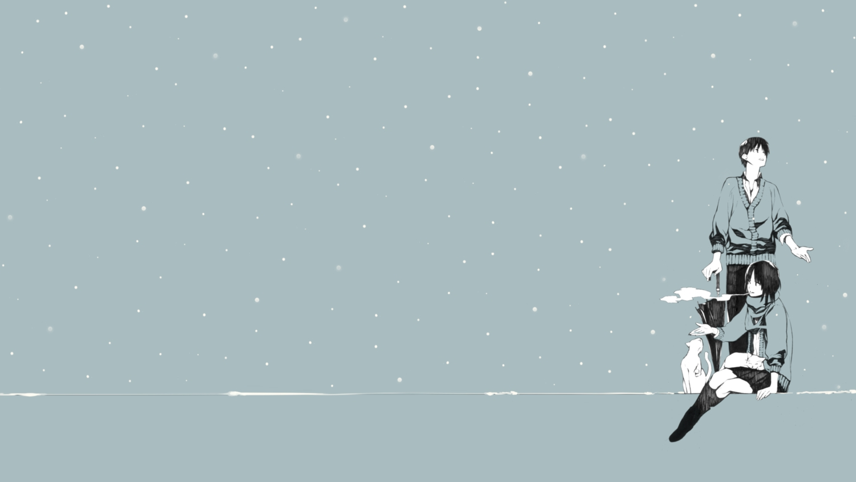 animal blue cat cigarette monochrome onigunsou original scarf short_hair smoking snow third-party_edit umbrella winter