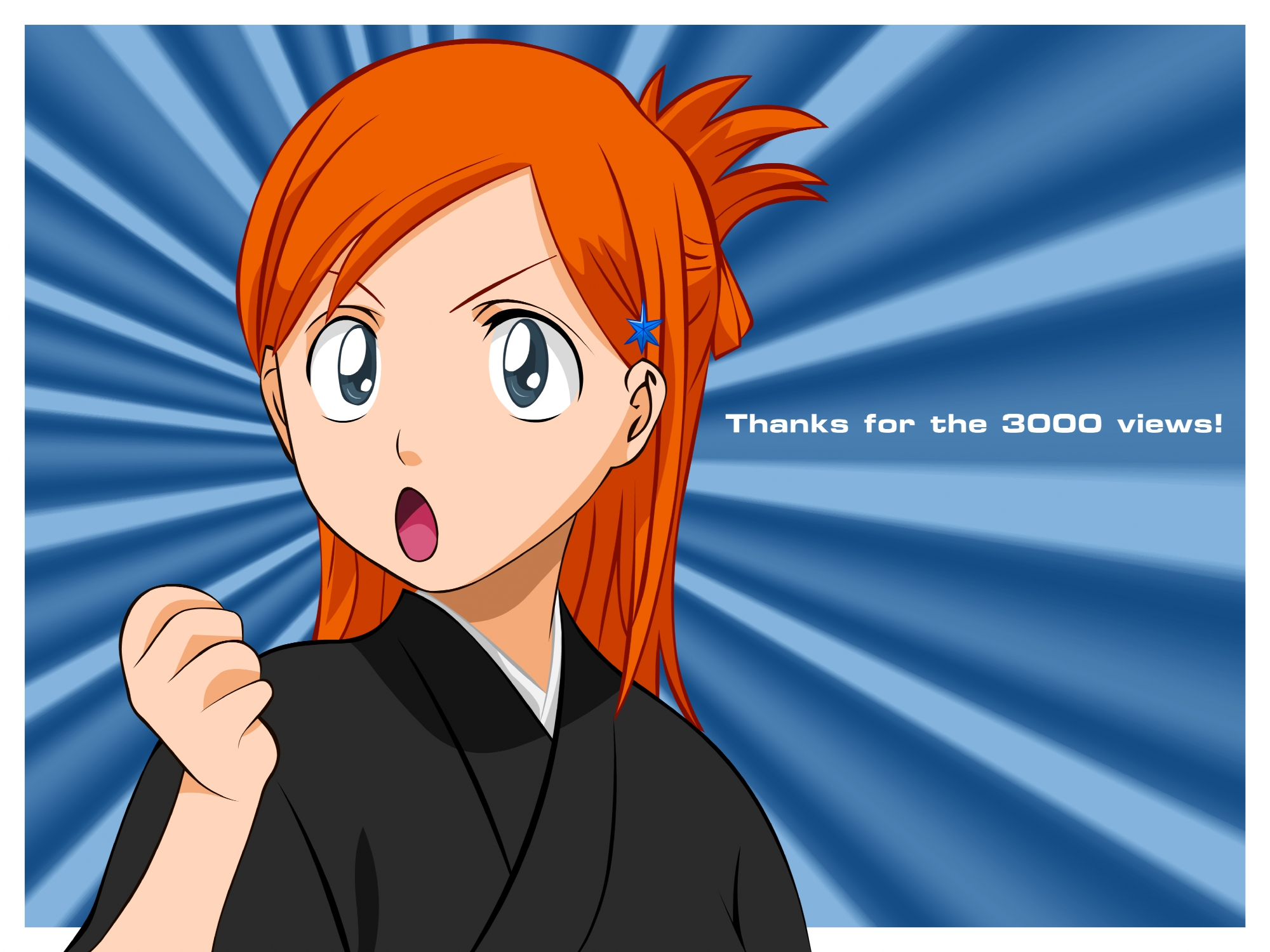 bleach inoue_orihime orange_hair vector