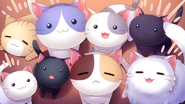 animal cat cat_smile game_cg nyan_cafe_macchiato skyfish yukie