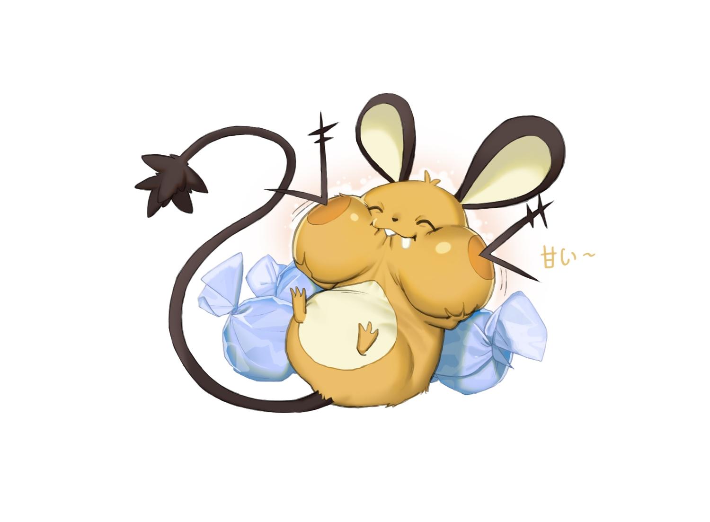 animal animal_ears candy dedenne mouse nobody pokemon rai32019 tail white