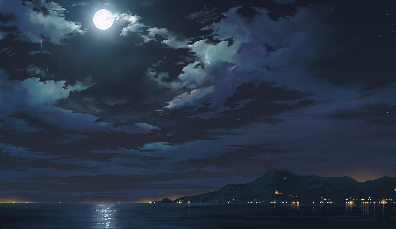 original landscape moon night - photo #1