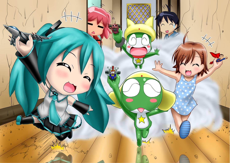 cat_smile chibi group hatsune_miku kazu-chan last_order sergeant_keroro tagme tagme_(character) to_aru_kagaku_no_railgun to_aru_majutsu_no_index vocaloid